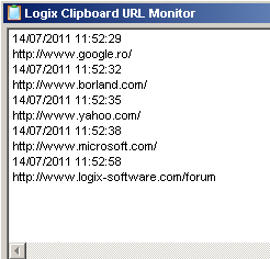 Logix Clipboard URL Monitor multi-functional tool